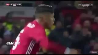 Marcos Rojo & Phil Jones vs West Ham