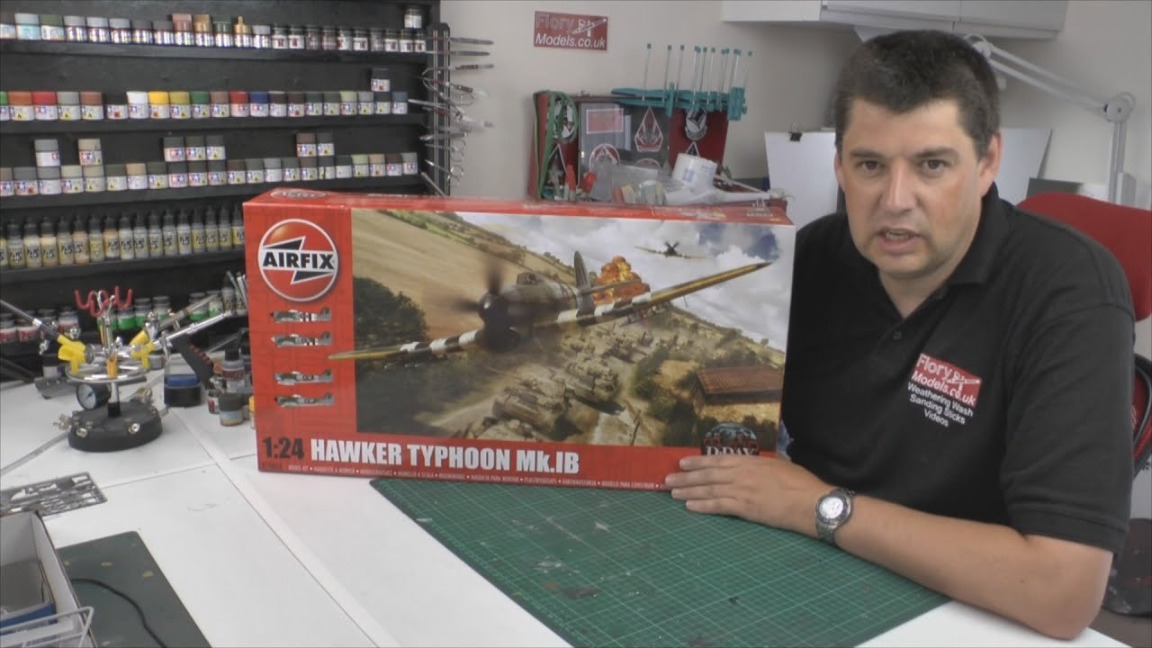 Airfix 1/24 Hawker Typhoon Mk1b review - YouTube