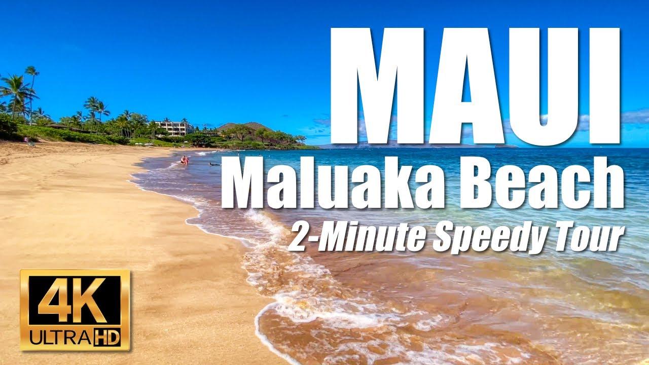 Maluaka Beach North, Makena, Maui, Hawaii Travel Tour Video with Hyperlapse   4K