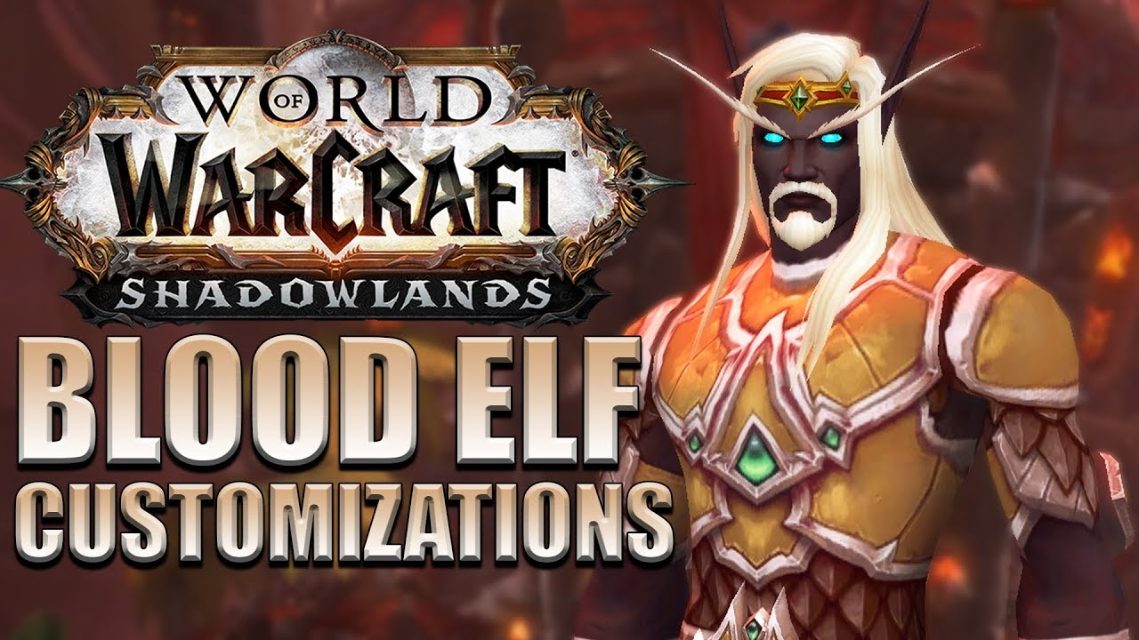 New High Void Elf Customization Options Shadowlands Alpha Youtube Void elf heritage armor quest wow. new high void elf customization options