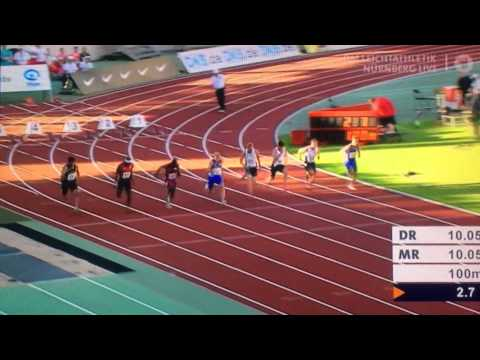Nürnberg DM 100m Finale Julian Reus 10.12
