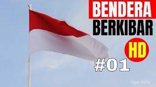 Indonesian Flag -  Bendera Merah Putih Berkibar - Stock Footage 01