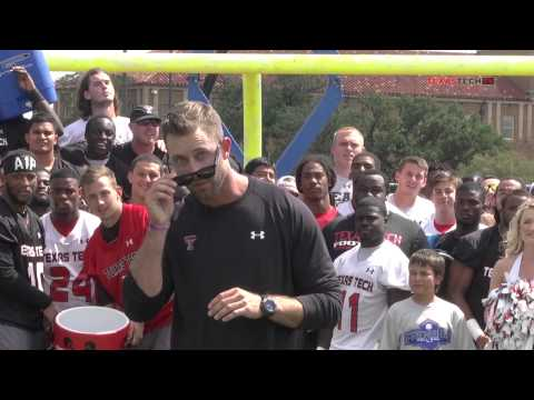 Texas Tech Football #ALSIceBucketChallenge