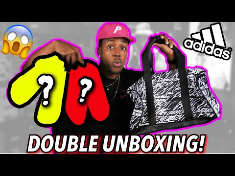 UNBOXING A CRAZY Exclusive Package From Adidas! DOUBLE SNEAKER UNBOXING & MORE!