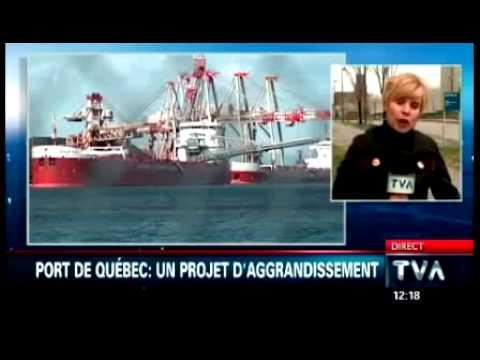 Projet d'expansion: Le Port de Québec garde le cap   TVA   14 mai 2014.