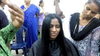 Ladies haircut in Kannada Chandru N