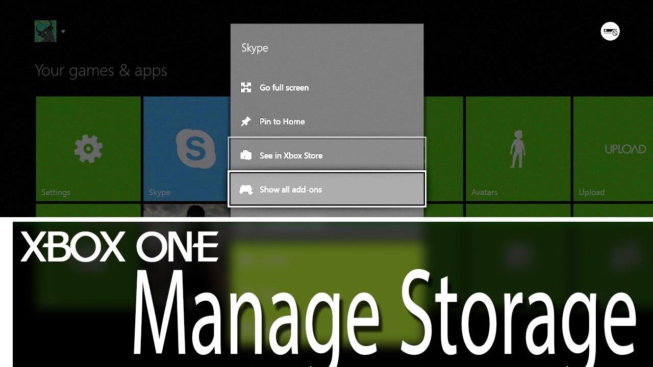 Xbox One How To Manage Storage Best Way