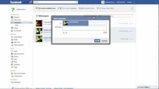 How to work with private messages in Facebook