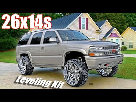 26x14s ON A LEVELED TAHOE!!