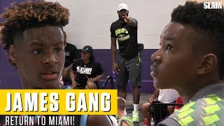 LeBron James returns to Miami: Bronny & Bryce SHOW OUT for Dad!
