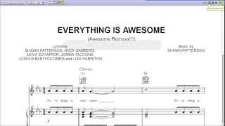 Everything Is Awesome by Tegan and Sara - Piano Sheet Music:Teaser