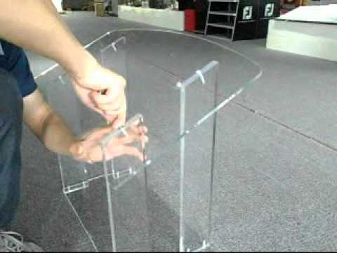 Clear Acrylic Podium by FixtureDisplays.com