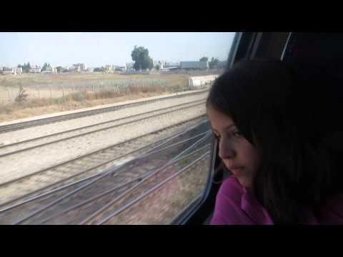 Traveling on a train from Lod to Beer Sheva (Israel)