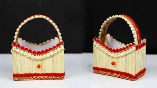 DIY Popsicle-Stick Easter basket | Cute And Easy Easter Basket Craft | Home Decor