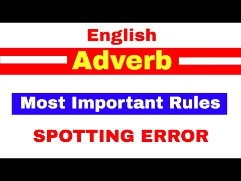 Most Important Rules related to ADVERB for Spotting Error | Bank PO | Clerk |SBI | IPPB [ In Hindi ]