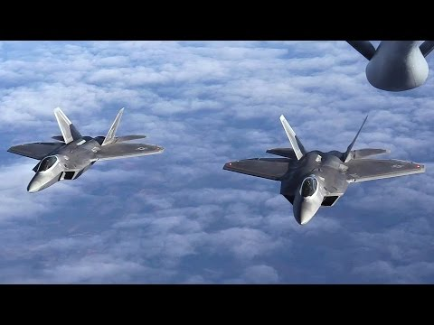 Audio Communications During F-22 Raptors Air Refueling Missi