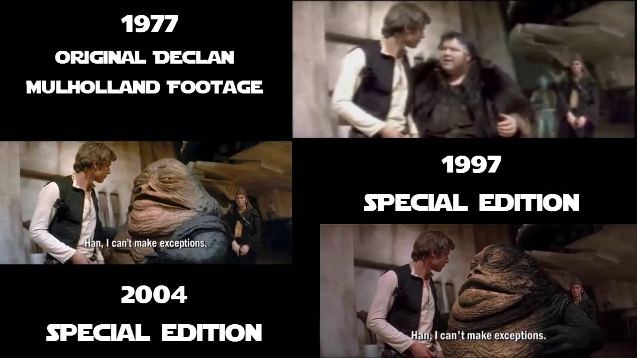 Star Wars A New Hope Jabba In The Hanger 1977 1997 2004