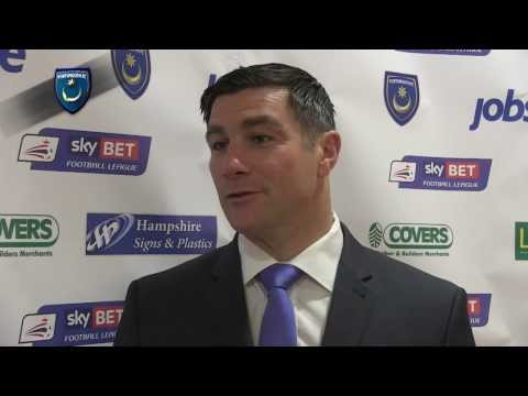 Richie Barker's first interview as Pompey boss