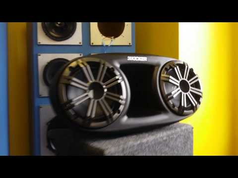 Kicker KMT67 Long Range Tower Speakers.