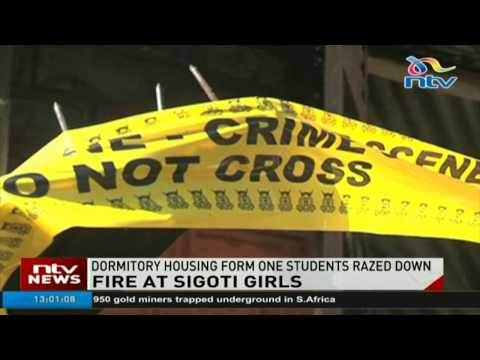 Fire at Sigoti Girls as dormitory housing Form One students razed down