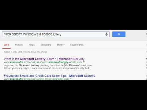 Email Lottery Scam: Email scam busted!