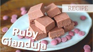 Ruby Hazelnut Gianduja Chocolates: Easy Two-Ingredient Recipe