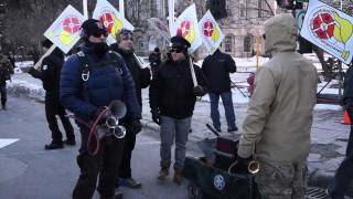 White Collar City Workers Protest Montreal City Hall March 23 2015 00055