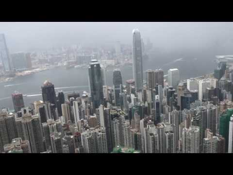 Periscope Rewind - Typhoon MERBOK from Hong Kong's Victoria Peak