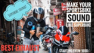 Make Your Bike Sound, Loud exhaust  - Superbike sound like akrapovic and sc project
