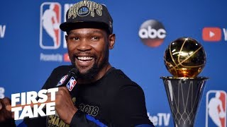 The best free agency destination for Kevin Durant is the Warriors – Richard Jefferson | First Take