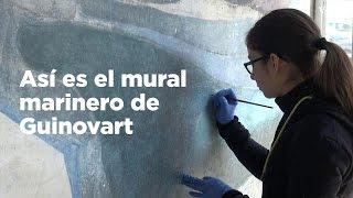 Arte protegido en una portería de la Barceloneta