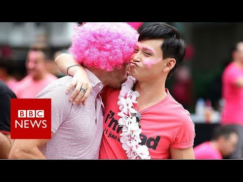 Pink Dot: Singapore's gay rights rally- BBC News