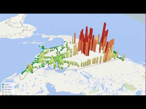 American railway stations (Meters above sea level)