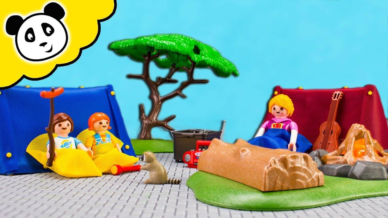 Playmobil Familie   Die ZELT AUFBAU CHALLENGE!   Spielzeug Auspacken U0026  Spielen   Pandido TV