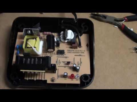 Converting a DeWalt 110v battery charger to 240v for $1.75