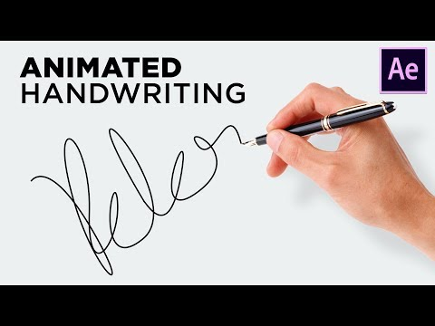 Easy Handwriting Tutorial After Effects - Signature Text Effects - No Plugin