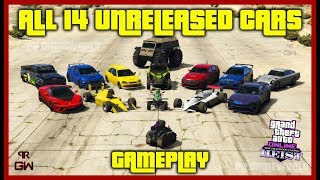 ALL Unreleased Cars Gameplay - Casino Heist DLC Drip fed content - GTA Online 2019