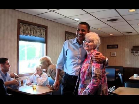Raw Video: President Obama at Iowa Diner
