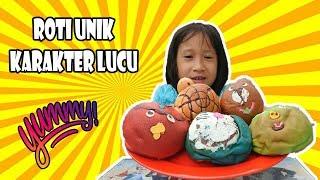 Icip icip Roti Unik Karakter Lucu Angry Bird, Doraemon, Beruang, Kura Kura - Funny Bread