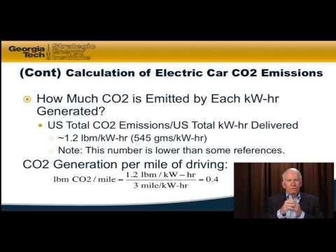 Energy 101 - 8.3 Electric Car Carbon Emissions