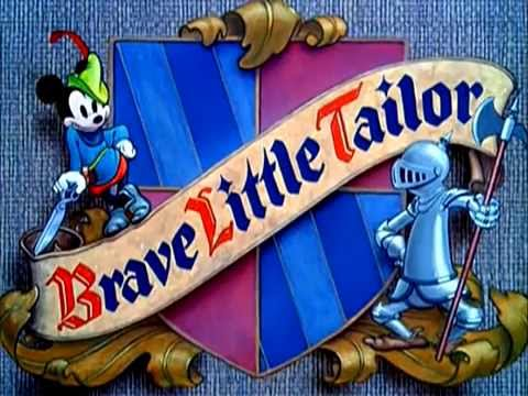 "Mickey Mouse - ""Brave Little Tailor"" (1938) - recreation titles"