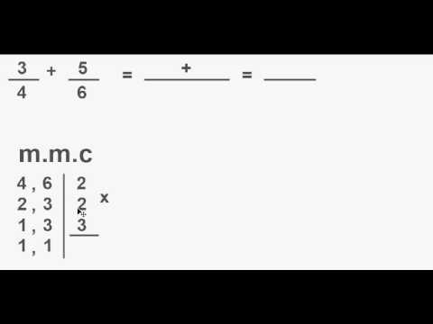 Adição de frações + m.m.c