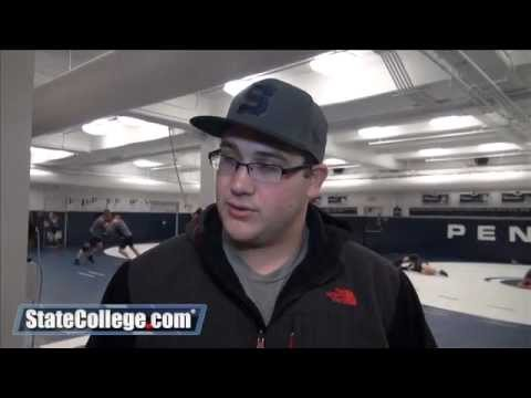 Penn State Wrestler Cameron Wade Speaks with Reporters
