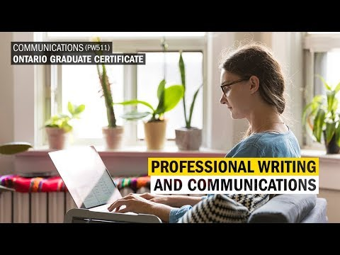 Professional Writing and Communication Ontario Graduate Certificate