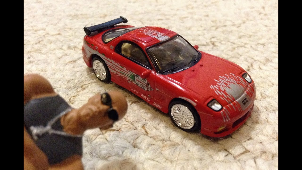1993 mazda rx7 fast and furious. fast and furious mazda rx7 mini die cast with dom figure 1993 rx7 t
