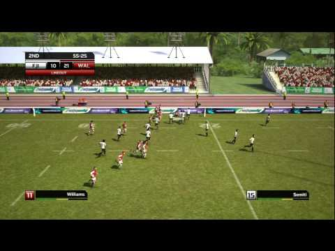 Rugby World Cup 2011 RWC Gameplay Full Game  Wales vs Fiji on Hard HD