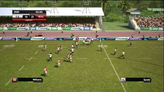 Rugby World Cup 2011 RWC Gameplay (Full Game)  Wales vs Fiji on Hard HD