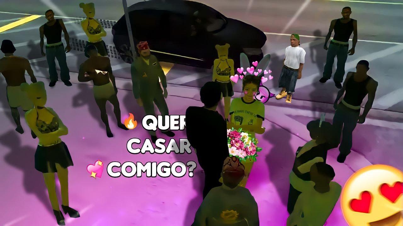 GTA MTA RP - PEDI ELA EM CASAMENTO NA FRENTE DE TODO MUNDO!! 😲😲