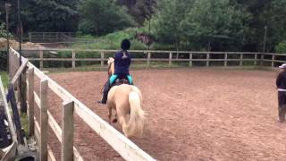 My daughter riding at Bolton gate