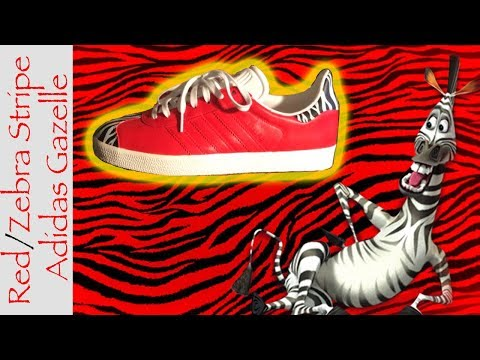 Custom Adidas Gazelle zebra Timelapse